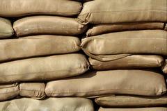 袋子沙子 免版税库存图片