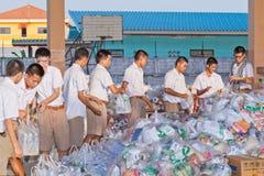 袋子洪水替补受害者 免版税库存图片