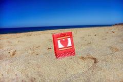袋子海滩存在 库存图片
