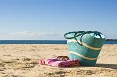 袋子海滩 免版税库存照片