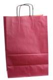 袋子深紫红色色的礼品查出的购物 免版税图库摄影