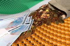 袋子爱尔兰货币 库存图片