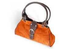 袋子现有量橙色钱包妇女 免版税库存照片