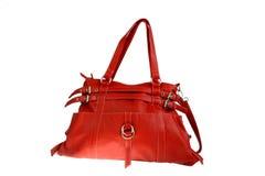 袋子现有量红色妇女 免版税库存照片