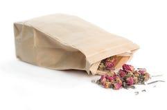 袋子疏松茶 库存图片