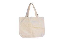 袋子白棉布 免版税库存照片