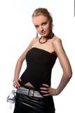 袋子白肤金发的激情性感的小的年轻&# 免版税库存照片