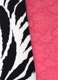 袋子皮革桃红色斑马 免版税库存照片