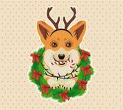 袋子看板卡圣诞节霜klaus ・圣诞老人天空 也corel凹道例证向量 库存例证