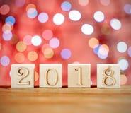 袋子看板卡圣诞节霜klaus ・圣诞老人天空 儿童` s块 创造性的想法 新年2018年 免版税库存照片