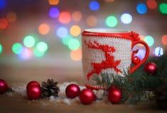 袋子看板卡圣诞节霜klaus ・圣诞老人天空 玩具雪人和逗人喜爱的礼物 免版税图库摄影