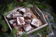 袋子看板卡圣诞节霜klaus ・圣诞老人天空 文本的空间 免版税图库摄影