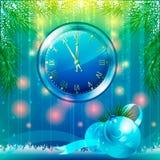 袋子看板卡圣诞节霜klaus ・圣诞老人天空 背景 免版税库存照片