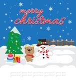 袋子看板卡圣诞节霜klaus ・圣诞老人天空 免版税库存图片