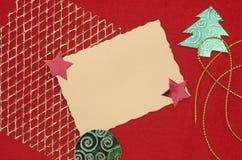 袋子看板卡圣诞节霜klaus ・圣诞老人天空 免版税库存照片