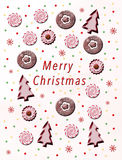 袋子看板卡圣诞节霜klaus ・圣诞老人天空 图库摄影