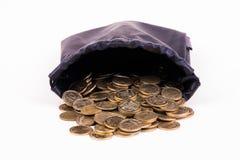 袋子硬币 免版税库存图片