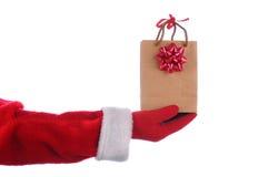 袋子礼品圣诞老人 免版税库存照片