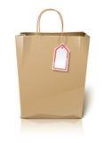 袋子空的商标纸购物 免版税库存照片