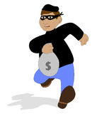 袋子窃取的窃贼 库存图片