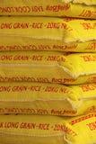 袋子米待售 免版税库存图片