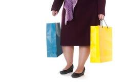 袋子纸妇女 免版税库存图片