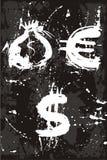 袋子美元欧元货币 向量例证