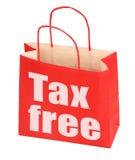袋子自由纸红色符号税务 库存照片