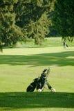 袋子航路高尔夫球绿色等待 免版税库存图片