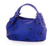 袋子蓝色妇女 库存照片