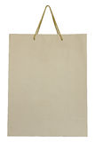 袋子褐色查出的纸白色 免版税库存图片