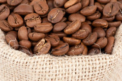 袋子豆咖啡 免版税库存照片