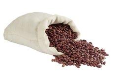 袋子豆粗麻布肾脏红色 免版税库存图片
