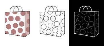 袋子购物向量 免版税库存图片