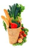 袋子购物蔬菜 免版税图库摄影
