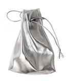 袋子银色小 免版税库存图片