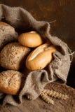 袋子面包黄麻 免版税库存图片