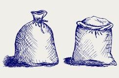 袋子面粉 库存例证