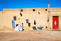 袋子顶房顶摩洛哥老墙壁 免版税图库摄影
