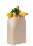 袋子食物新鲜的健康纸张 免版税库存照片