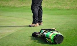 袋子高尔夫球 库存图片