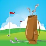 袋子高尔夫球 库存照片
