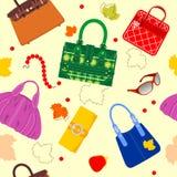 袋子魅力模式 免版税库存图片