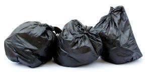 袋子黑色垃圾 免版税库存照片