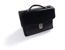 袋子黑色查出的皮革 免版税库存图片