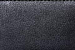 袋子黑色皮革纹理 库存图片