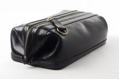 袋子黑色皮革 库存照片