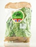 袋子从Redmere农场的新绿色特易购的 免版税库存照片