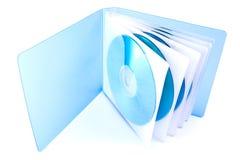 袋子CD的光盘dvd 库存照片
