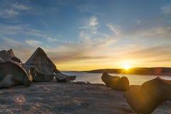 袋鼠海岛卓越的岩石 免版税库存图片